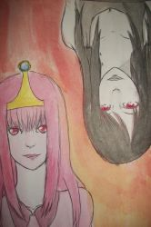 Princess Bubblegum and Marceline by cherrychip