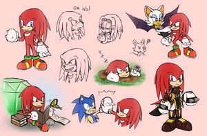 -STH Knuckles Doodles!- by Biko97