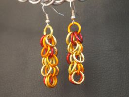 Fire Nation Dangle Ring Earrings by ofmyhats