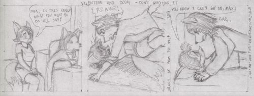 Valentine and Doom - Don't question it by Doom-the-wolf