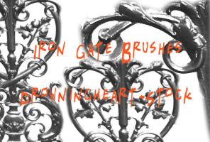 wrought iron brushes by drowningheart-stock