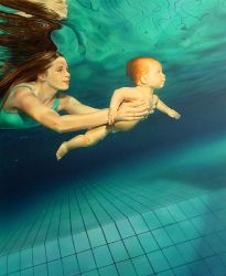 underwaterbaby by illugraphy