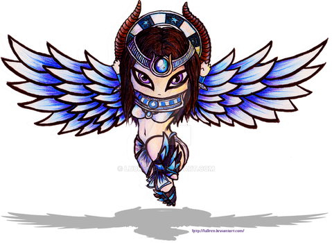 SMITE Blue Isis by Lu0ren