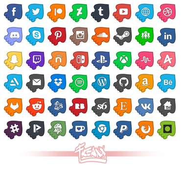 UPDATED! 48 Splatoon Inspired Social Media Icons! by JessicaFreaxx