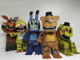 five nights at freddy's 2 papercraft by Adogopaper