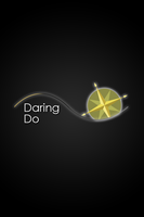 Daring Doo Glow Line iPod/iPhone Wallpaper by AlphaMuppet