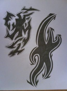my own tribal design by IceHunter90