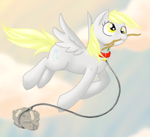 Derpy and her pet by NikiStix