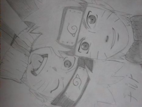 Naruto and Naruto by maii-mai