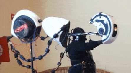 GLaDOS puppet live (animated gif and video link) by kbakonyi