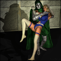Dr. Doom Sneaks Up by LordSnot