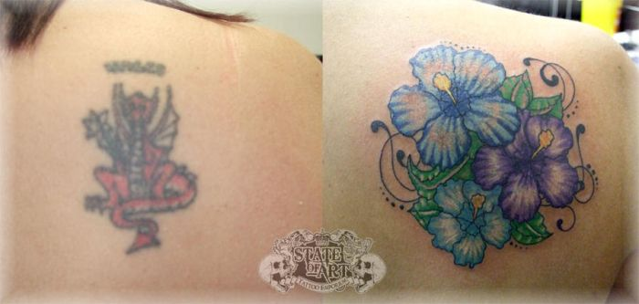 Dragon Cover Up by state-of-art-tattoo