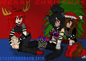 Merry Christmas XD by LycanthropAsh