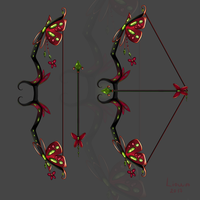 Bow ruby butterfly weapon adopt auction (OPEN) by Liowa