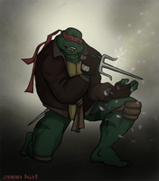 TMNT SAINW Raph - party by theblindalley