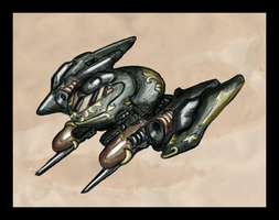 New technique test - Kyrdan fighter craft by Great-5