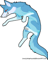Ice wolf adoptable (closed) by CheshireGrinAdopts