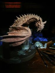 Paarthurnax- Clay Sculpture by dragonGod21