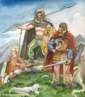 Celts in the Alps by deWitteillustration