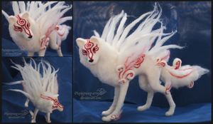 Shiranui - Needle felted figure by Piquipauparro