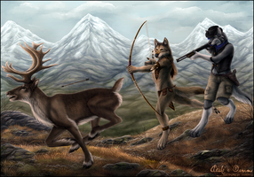 Caribou Hunt by Sidonie