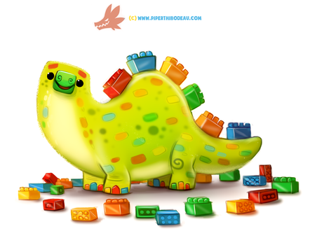 Daily Paint 1282. Legosaurus by Cryptid-Creations