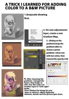 Greyscale to color mini tutorial by Montano-Fausto