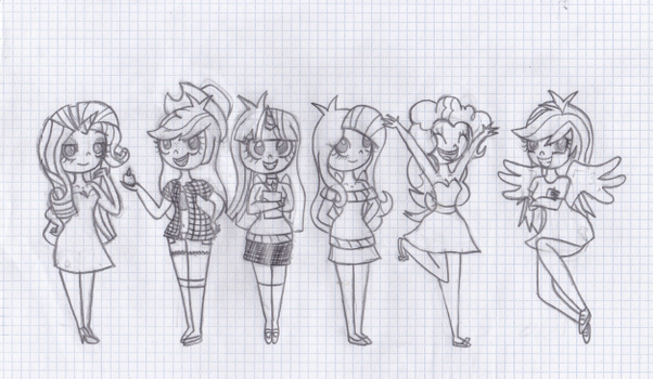 The Mane 6-My Style by HeatherDawn4ever