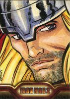 Thor sketch card by Schoonz