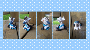 Blue Footed Booby Bagbean Clay Figurine by Audie-Nerd