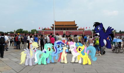 Ponies at Tianmen Square by TheDoubleDeuced