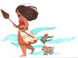 Moana by TinaDrawS
