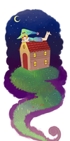 Witch on the roof by fffiesta