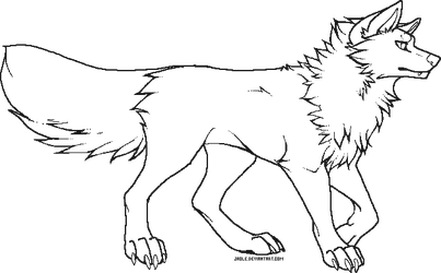Pixel Wolf Makeable - Free use by Jaole