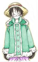One Piece - Luffy with Cold by Sabaku-Raven