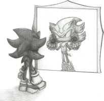 Mephiles the dark and Shadow the hedgehog by Gloria95