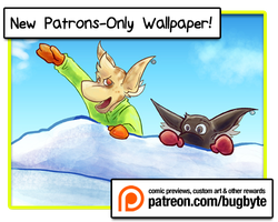 January Patron Wallpaper! by bugbyte