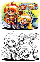 Slayers Childhood Flashback by SaltyMoose