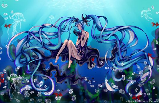 Miku: Deep sea girl by WillyWonka2703