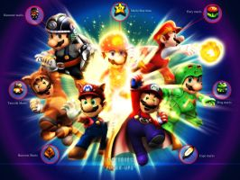 Mario-Power ups by xXLightsourceXx