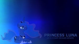 Princess Luna - Life's to short to sleep wallpaper by iCammo