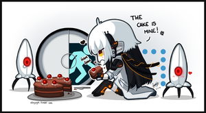 The cake is not a lie by SandraGH