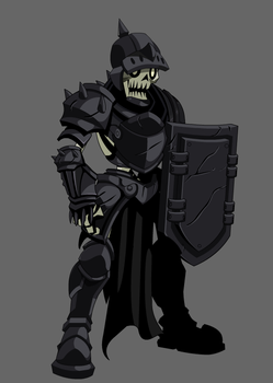 flash art Skeleton knight by DageThe3vil