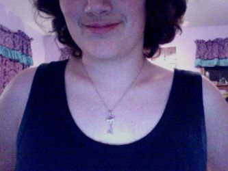 Wearing my Necklace by Aicara-Jhonhu
