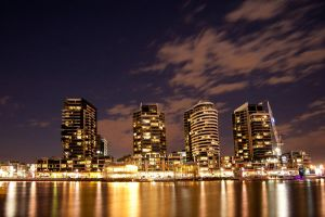 Night: NewQuay Docklands by daniellepowell82