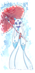Snowlady with an umbrella- request by PlatinaSena