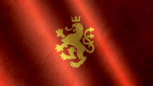 Golden Lion Realistic Flag Wallpaper 1 - Macedonia by Calkino