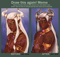 Draw this again~ Bishr 2017 by PreciseMoon