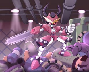 Medabot recycling center by PixiTales