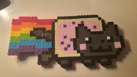 Nyan Cat (perler beads) by coriek99